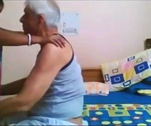 Desi Maid Quickie With Old Uncle - 2 min