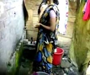 bangla desi village girl bathing in dhaka - 2 min