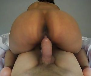 Horny indian girl sucks big white dick and gets fucked from behind